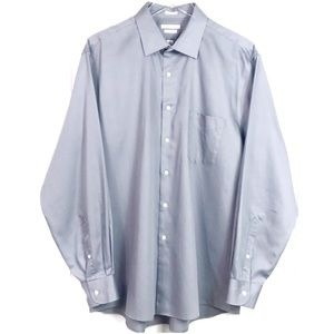 🎉Van Heusen Regular Fit Gray Dress Shirt 17 34/35